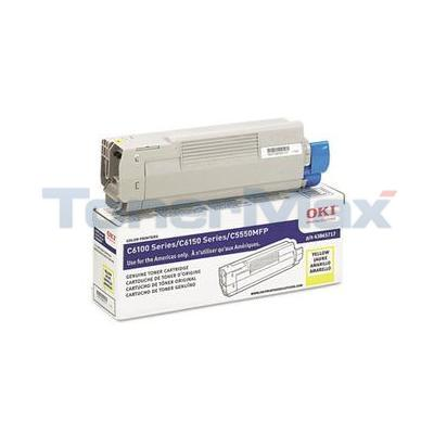OKIDATA C6150 TONER CARTRIDGE YELLOW